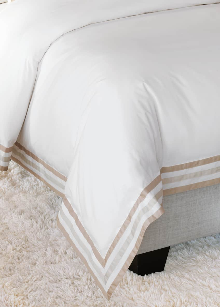 Image 1 of 1: Watermill Taupe Oversized King Duvet