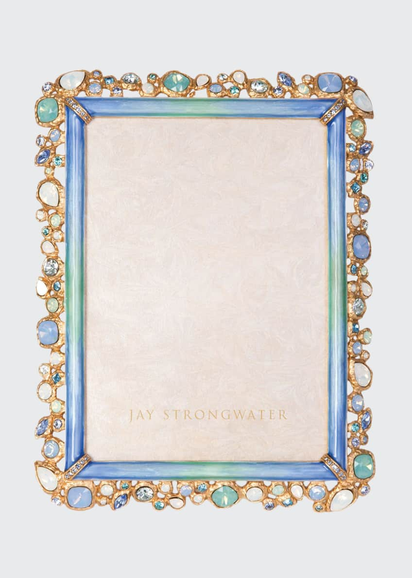 Jay Strongwater Oceana Bejeweled Picture Frame, 5