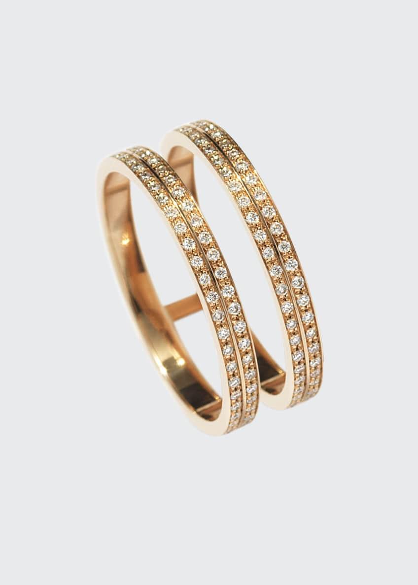 Repossi Berbere Two-Row Diamond Ring in 18K Rose