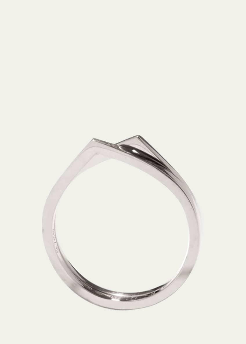 Repossi Antifer Two-Row Ring in 18K White Gold