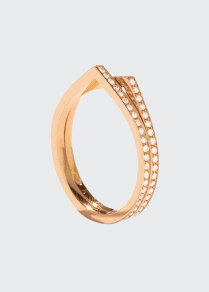 Image 1 of 1: Antifer Two-Row Ring with Diamonds in 18K Gold