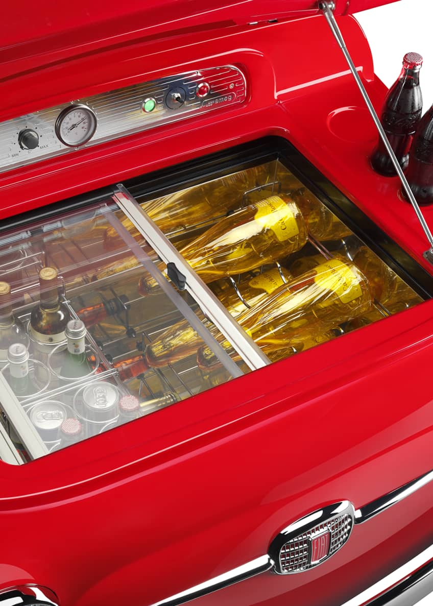 Image 3 of 5: FIAT X SMEG Red Electric Cooler