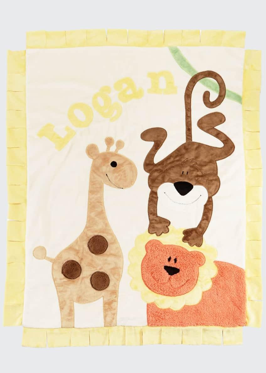 Boogie Baby Wild Ones Animal Blanket, Cream &