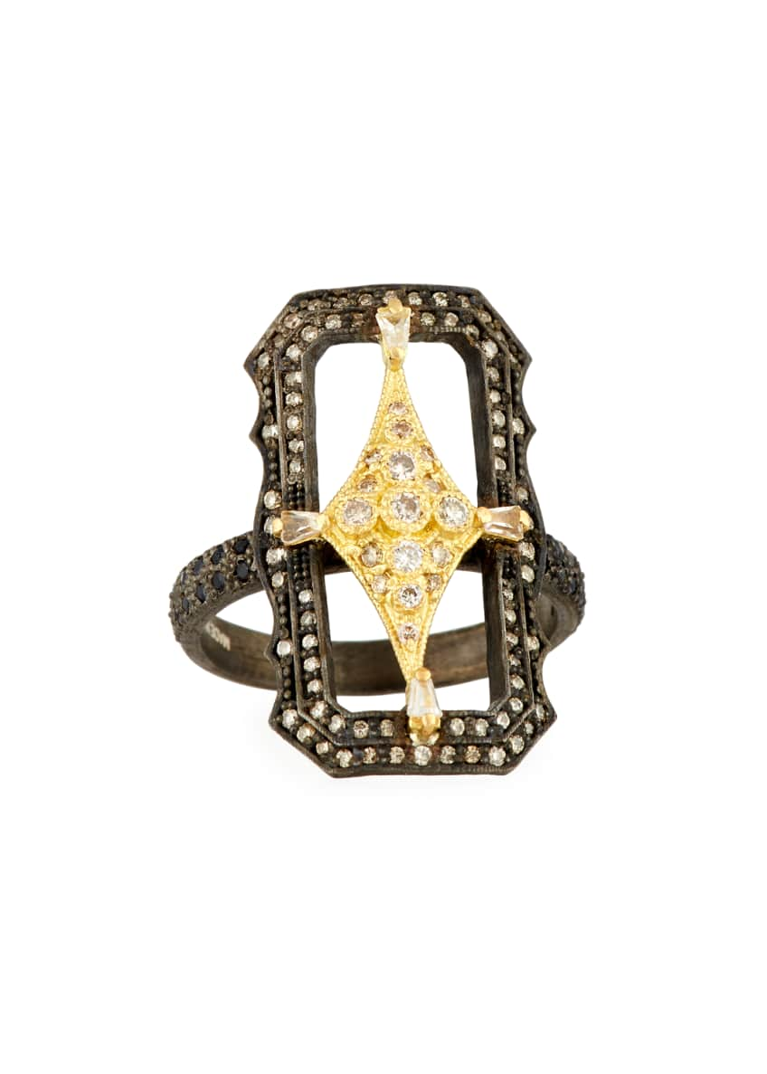 Armenta Old World Crivelli Scalloped Rectangle Ring with