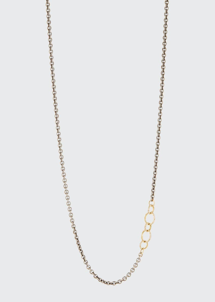 Armenta Old World Blackened Chain Necklace with Champagne