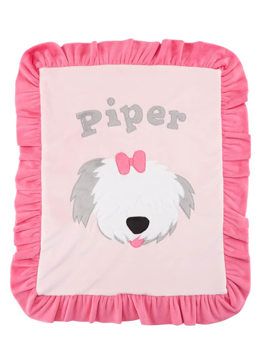 Image 2 of 2: Personalized Pup Love Plush Lovey, Pink