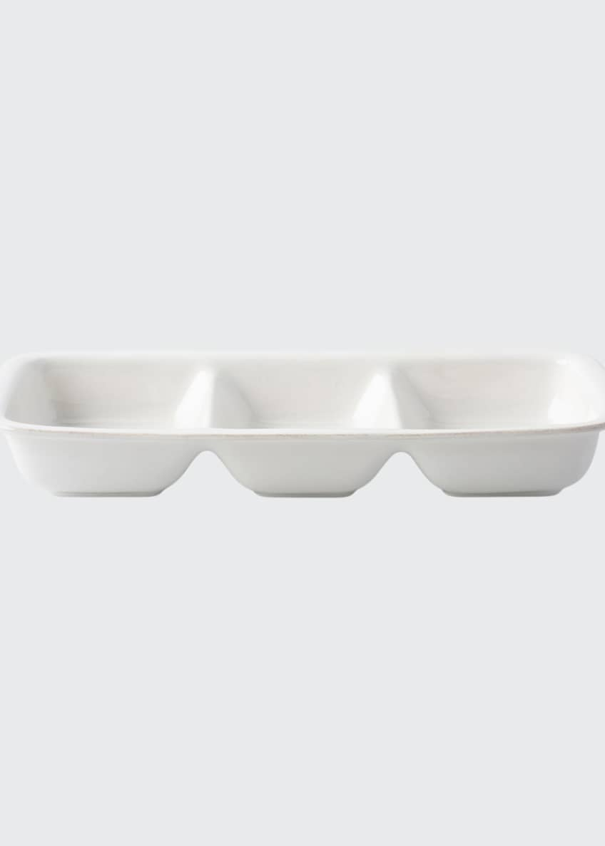 Juliska Puro Whitewash Divided Serving Dish