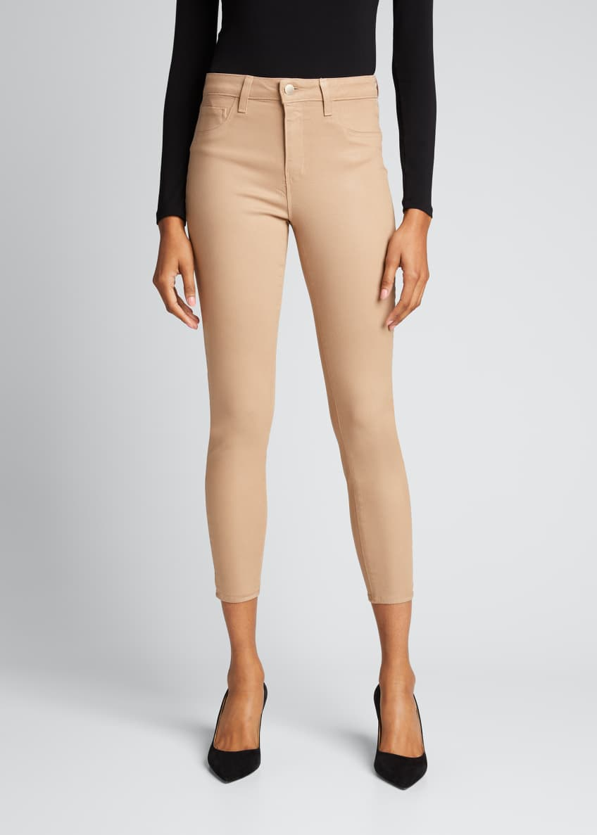 Image 4 of 6: Margot High-Rise Coated Skinny Jeans