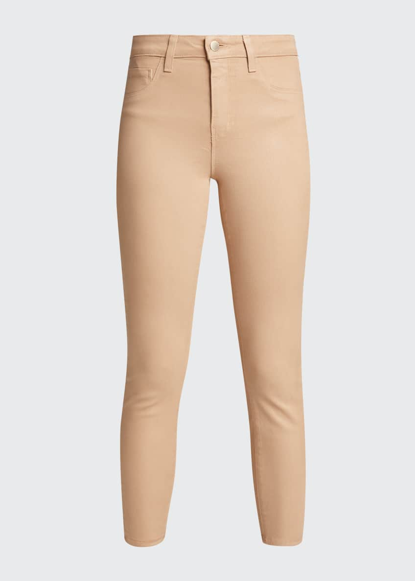 Image 6 of 6: Margot High-Rise Coated Skinny Jeans