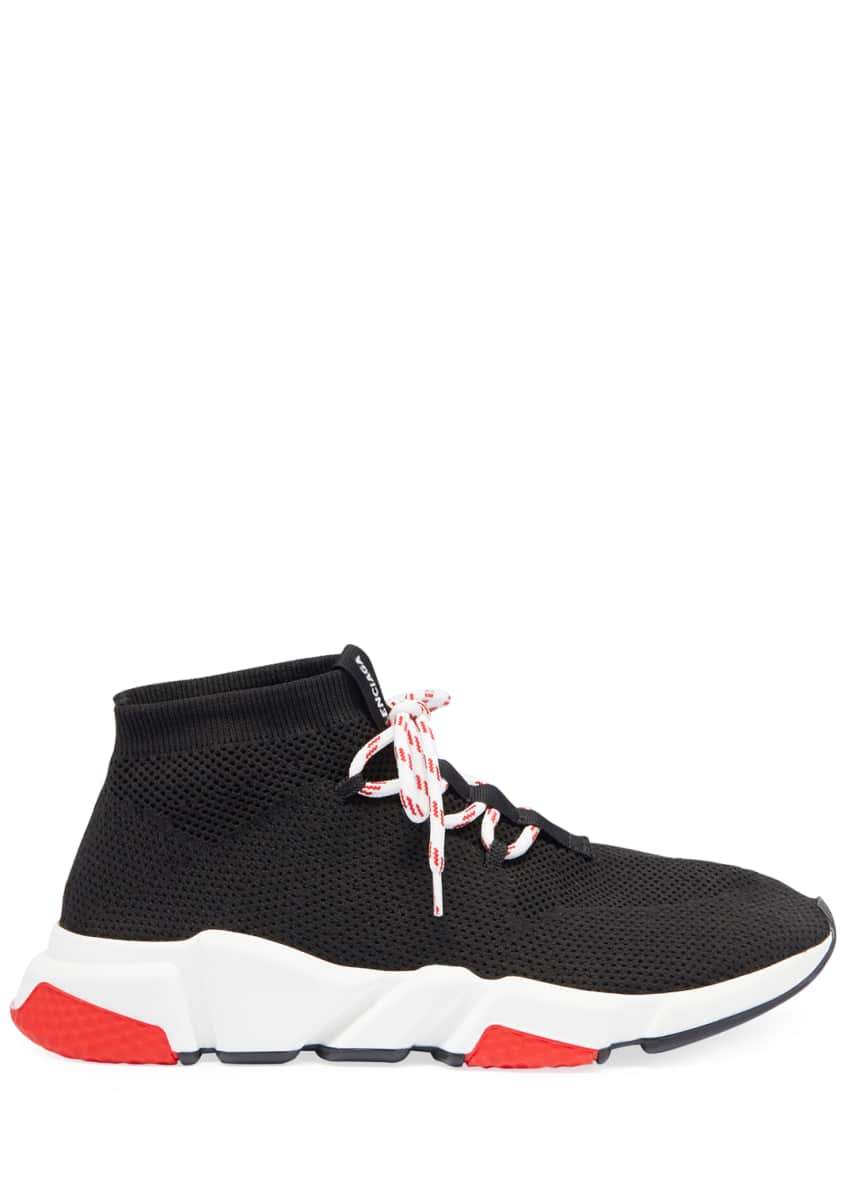 Image 2 of 3: Men's Speed Lace-Up Mesh Sneakers