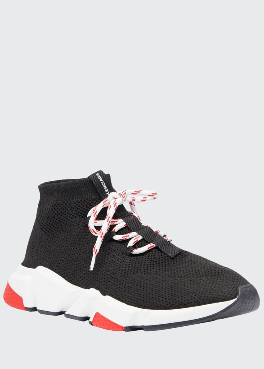 Balenciaga Men's Speed Lace-Up Mesh Sneaker & Matching