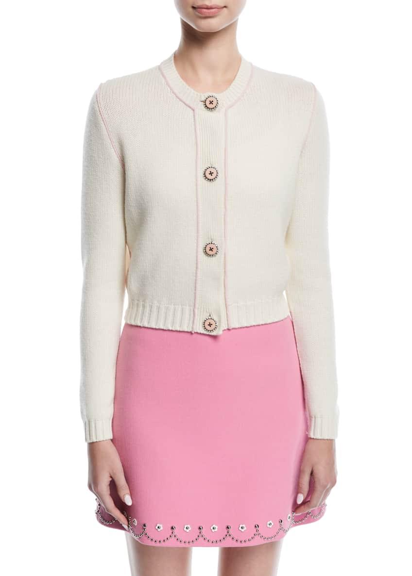 Miu Miu Scallop-Studded Mini Skirt & Matching Items