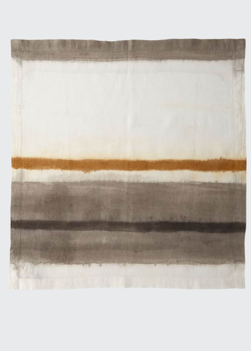 Image 1 of 1: Horizon Dyed Ombre Linen Napkin