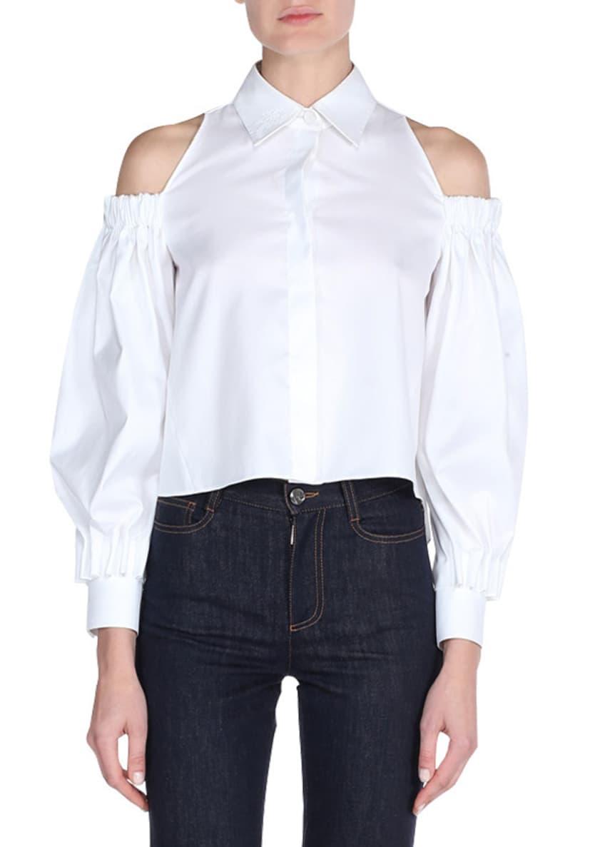 Fendi Poplin Cold-Shoulder Blouse & Matching Items