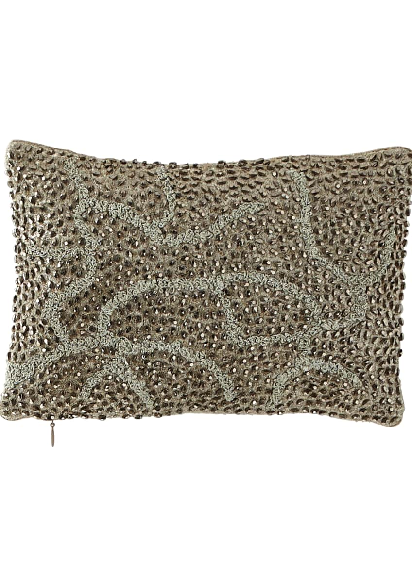 Image 1 of 1: Pomegranate Beaded Pillow