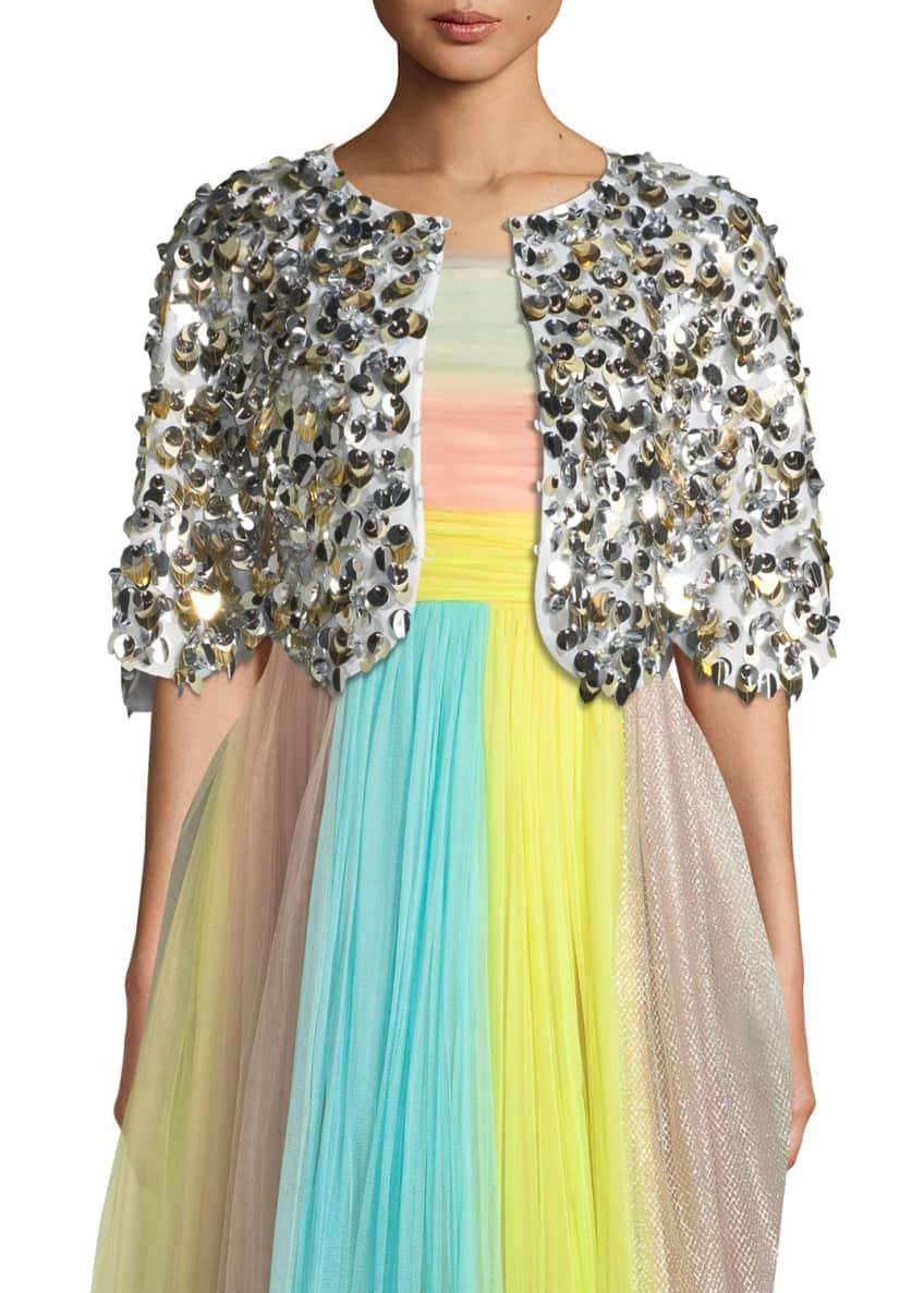 Delpozo Sequin-Embellished Bolero Jacket & Matching Items