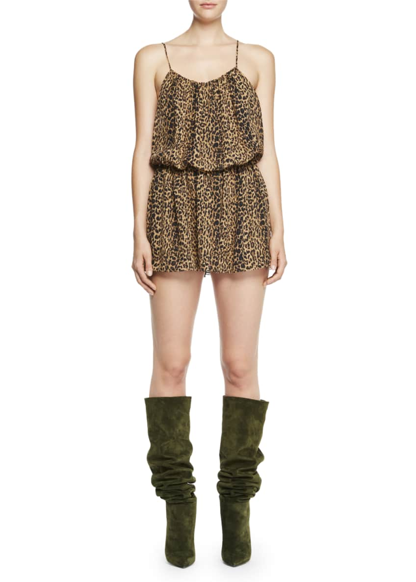 Saint Laurent Leopard-Print Cami Mini Dress & Matching