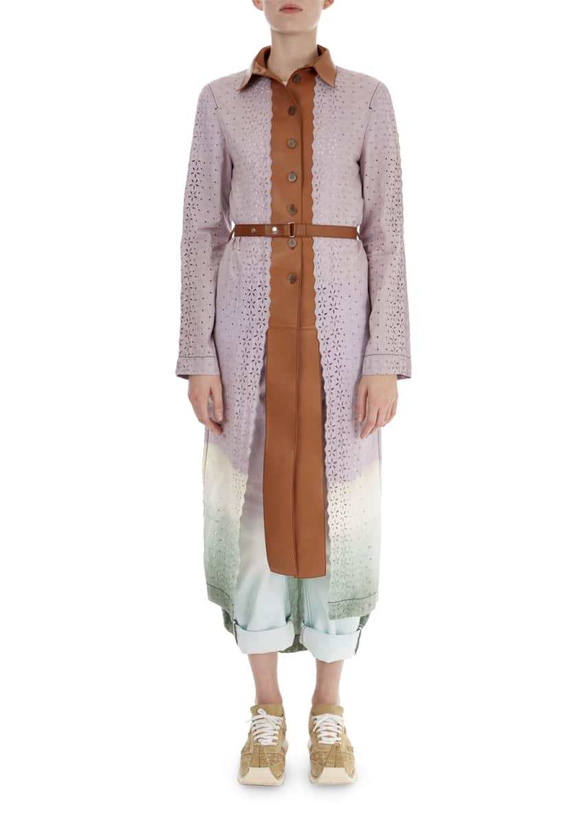 Loewe Ombre Laser-Cut Lace Coat & Matching Items