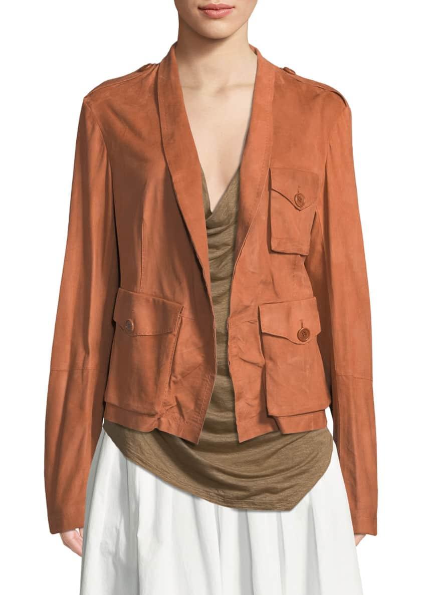 Urban Zen Suede Safari Jacket & Matching Items