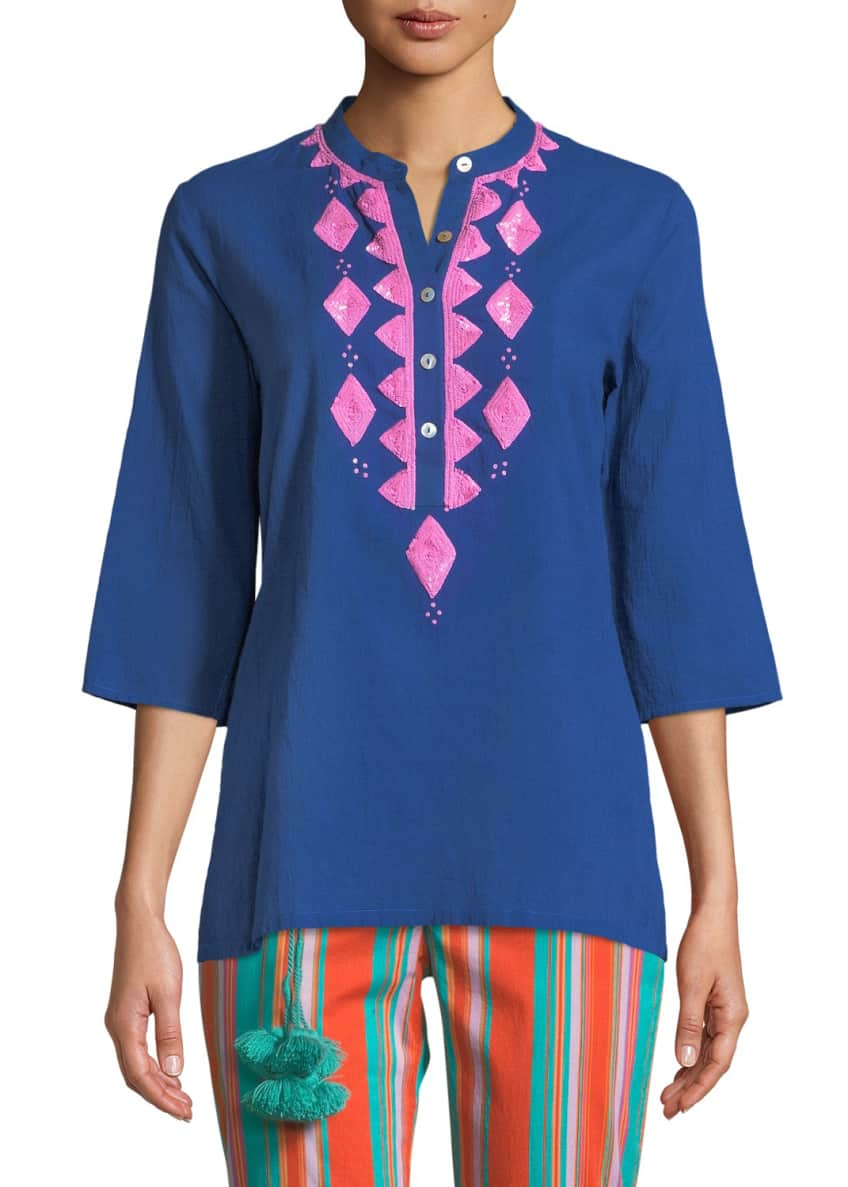 Figue Jasmine Embroidered 3/4-Sleeve Top & Matching Items