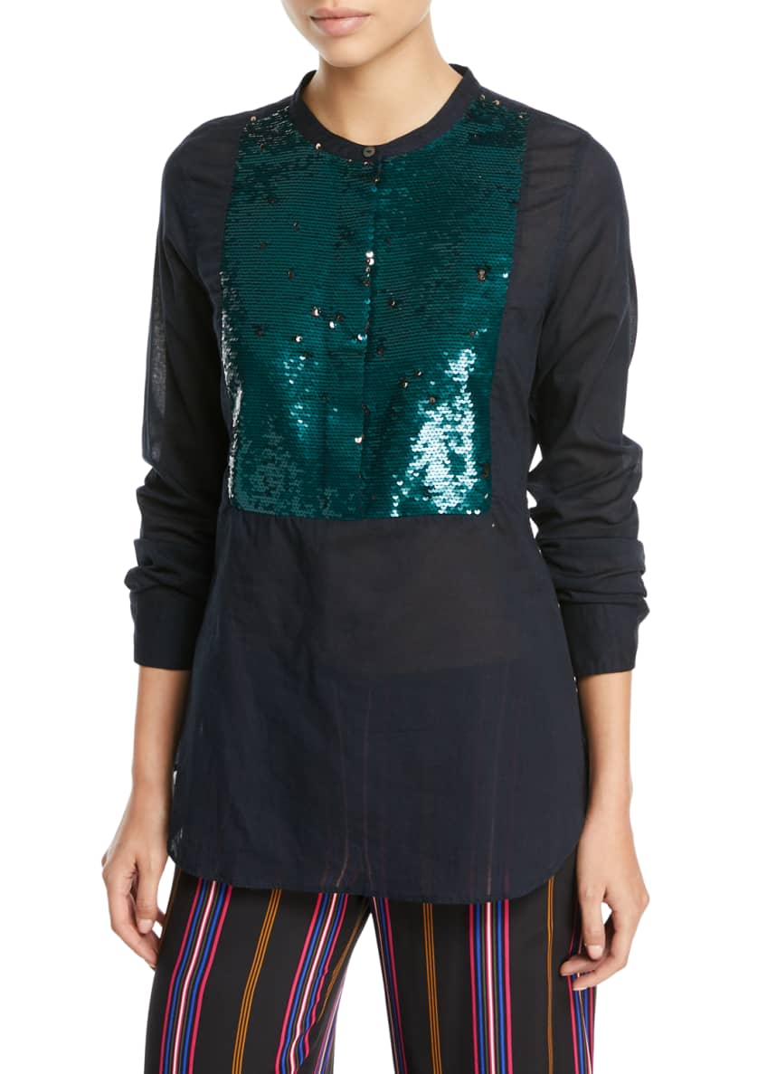 Figue Manuela Beaded Tuxedo Shirt & Matching Items