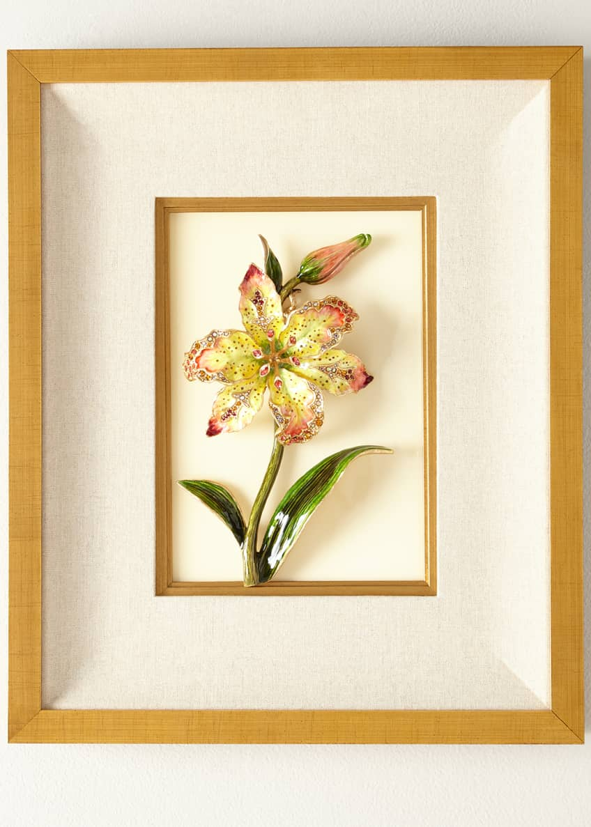 Jay Strongwater Swarovski® Crystals Lily Wall Art