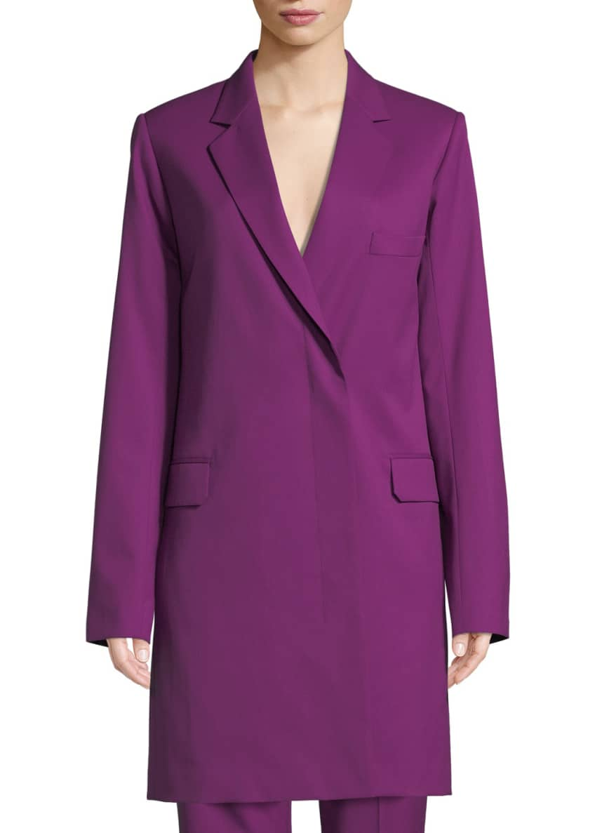 Helmut Lang Slim Wool Blazer Coat & Matching