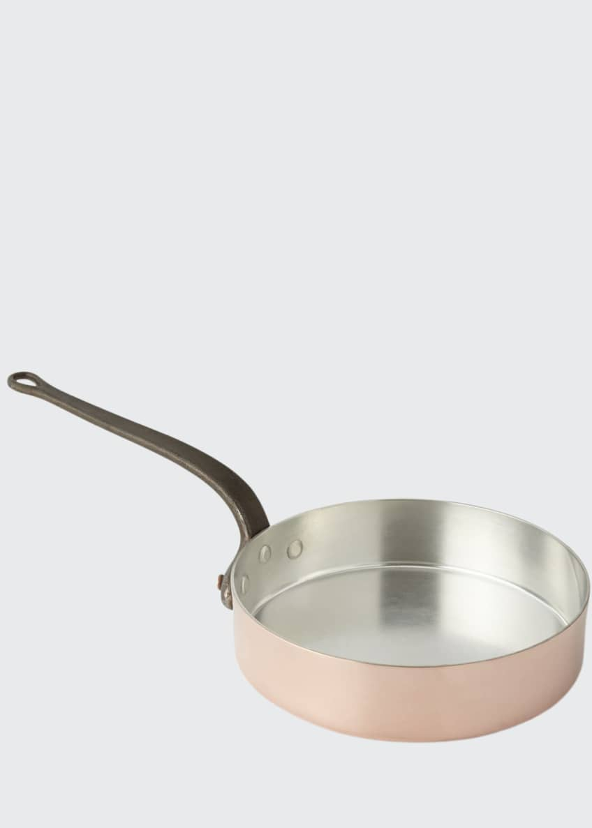 Image 1 of 1: Solid Copper Saute Pan with Silver Lining
