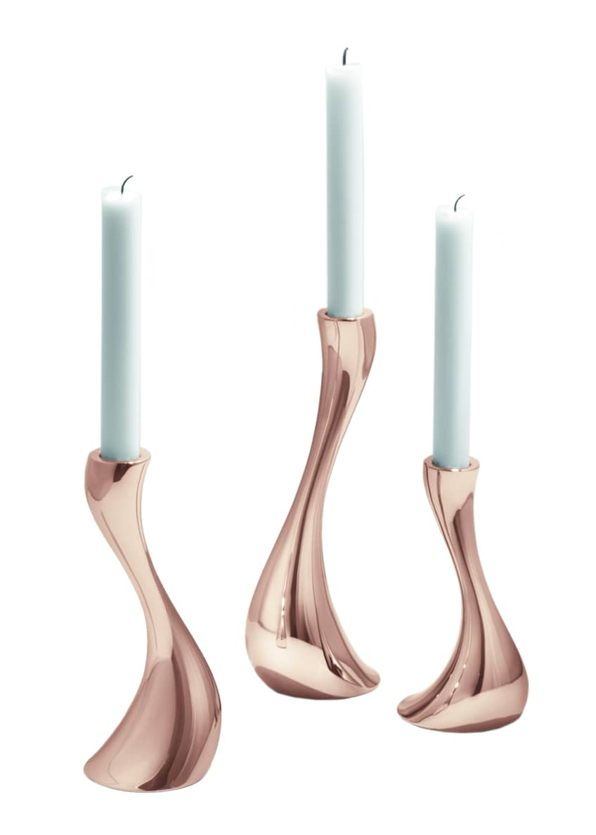 Image 1 of 1: Cobra Candleholders, Set of 3