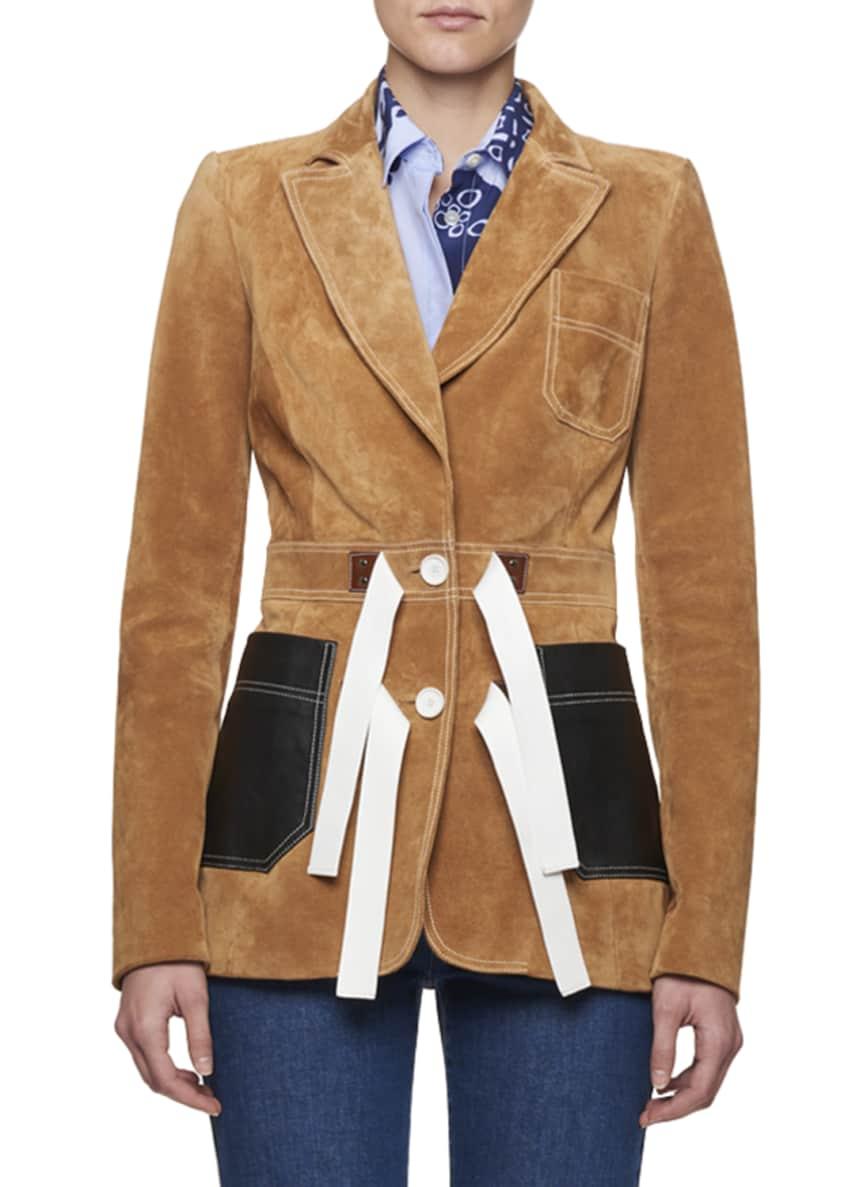 Altuzarra Suede Tie-Waist Blazer & Matching Items