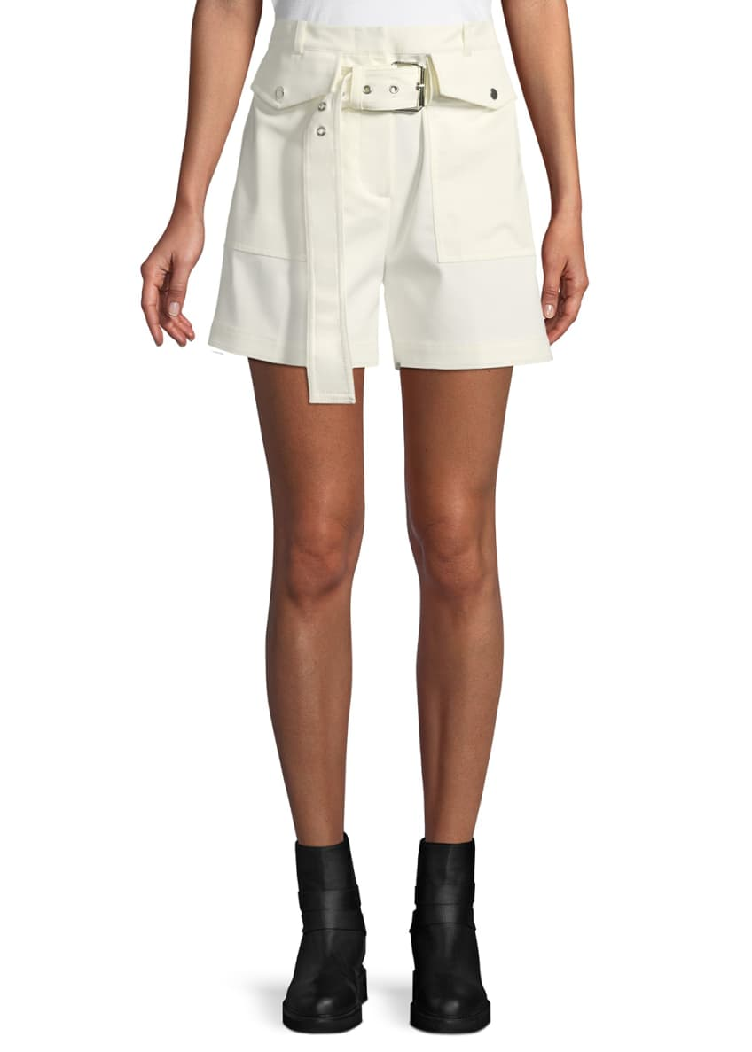 3.1 Phillip Lim Belted Cargo Shorts & Matching