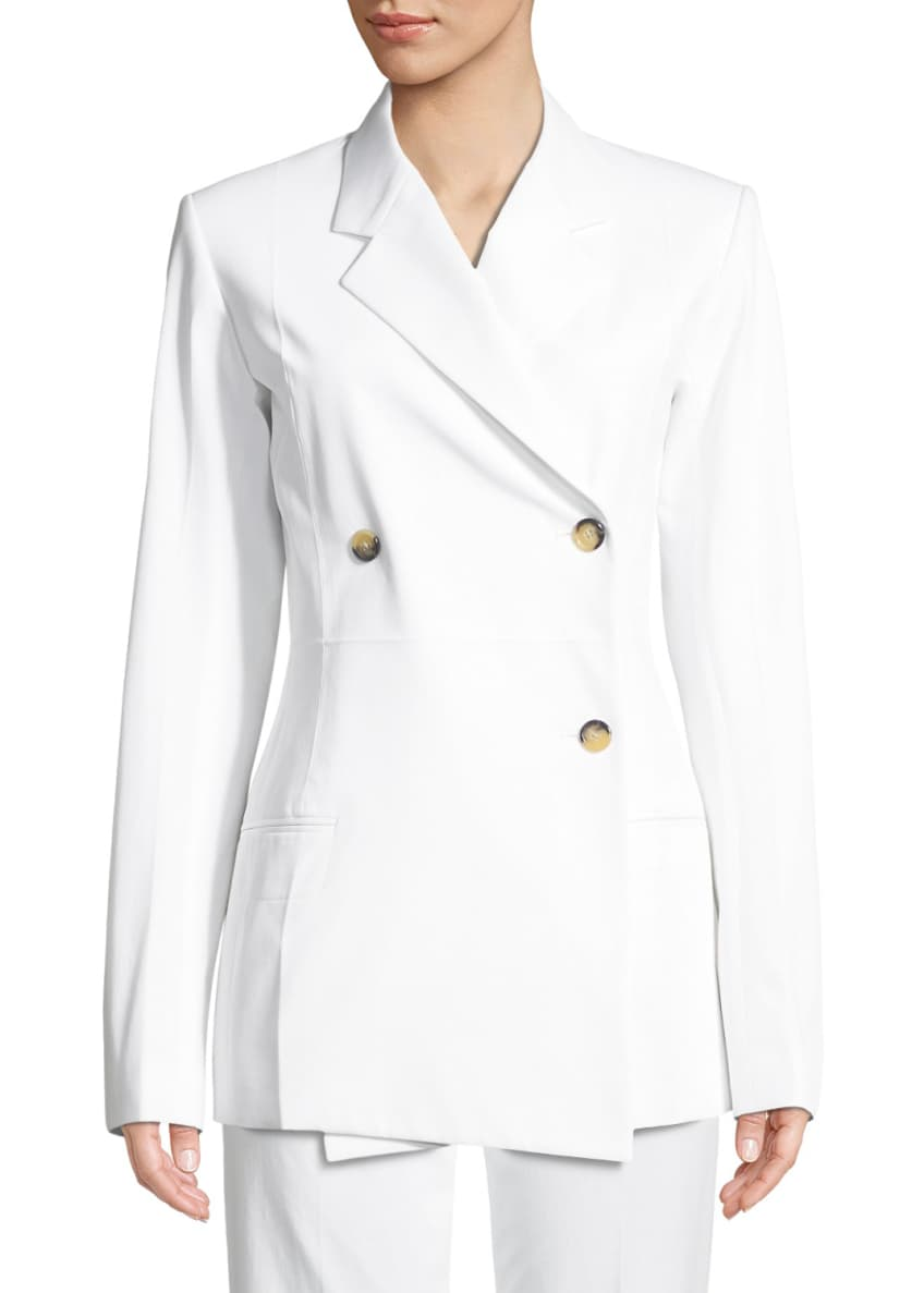 Helmut Lang Double-Breasted Cotton Blazer & Matching Items