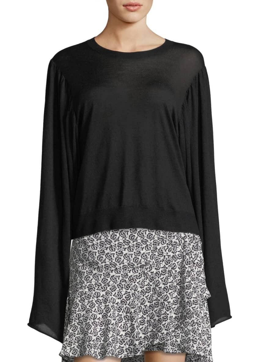 A.L.C. Stewart Crewneck Long-Sleeve Wool Sweater & Matching
