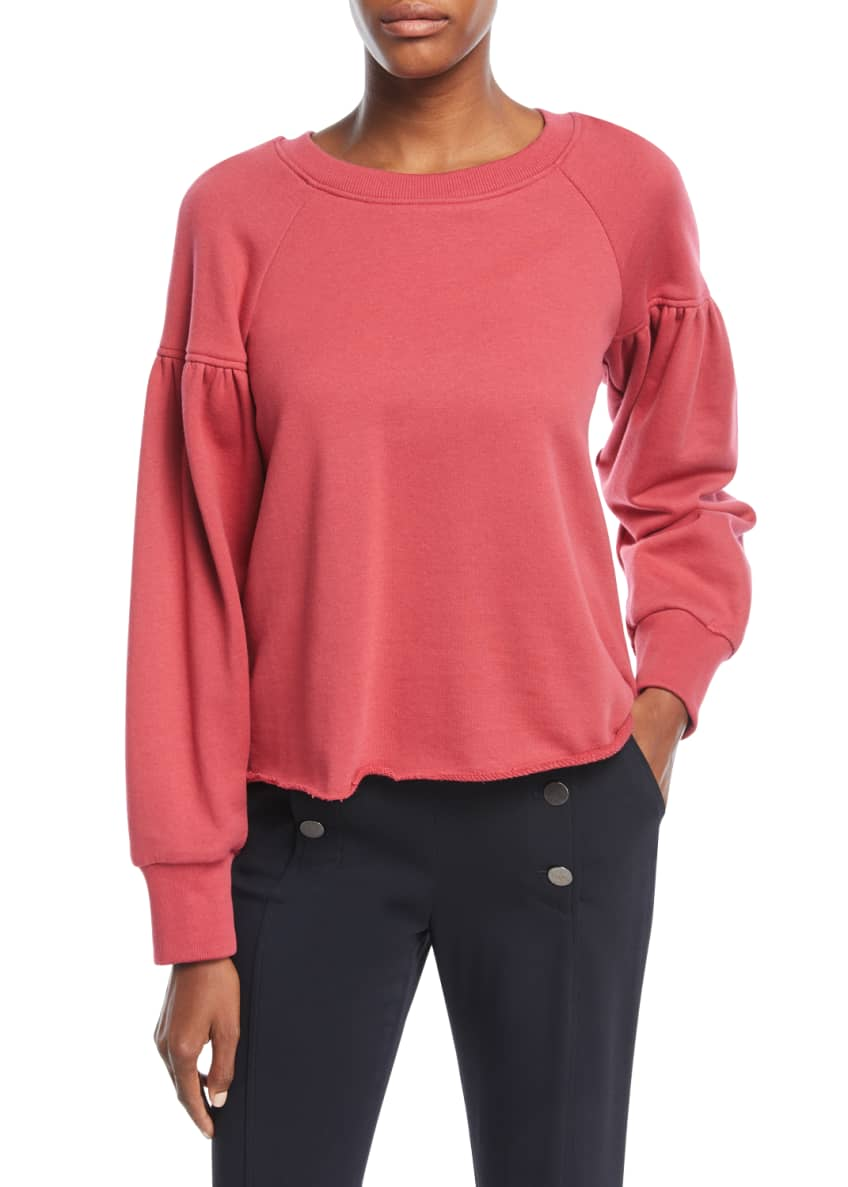 A.L.C. Gilmore Crewneck Long-Sleeve Cotton Sweatshirt & Matching