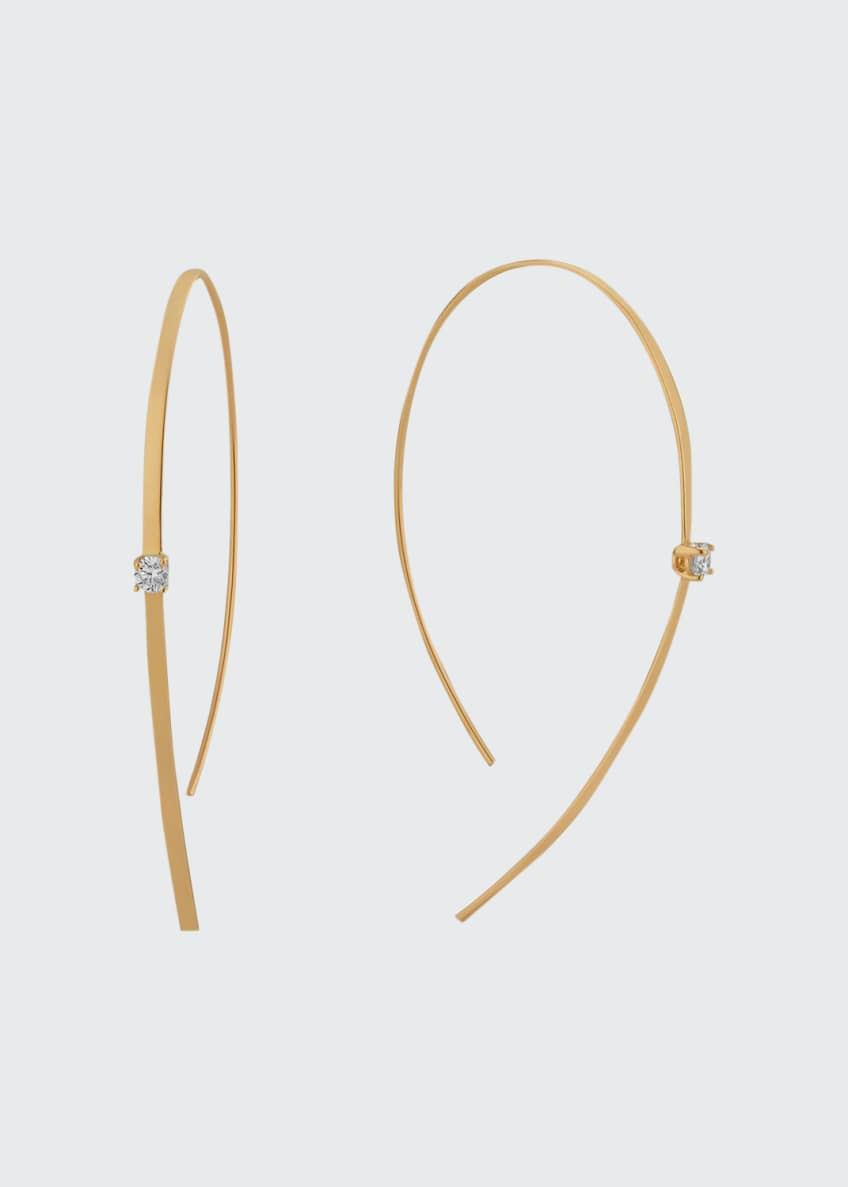 LANA 14k Solo Hooked On Hoop Diamond Earrings