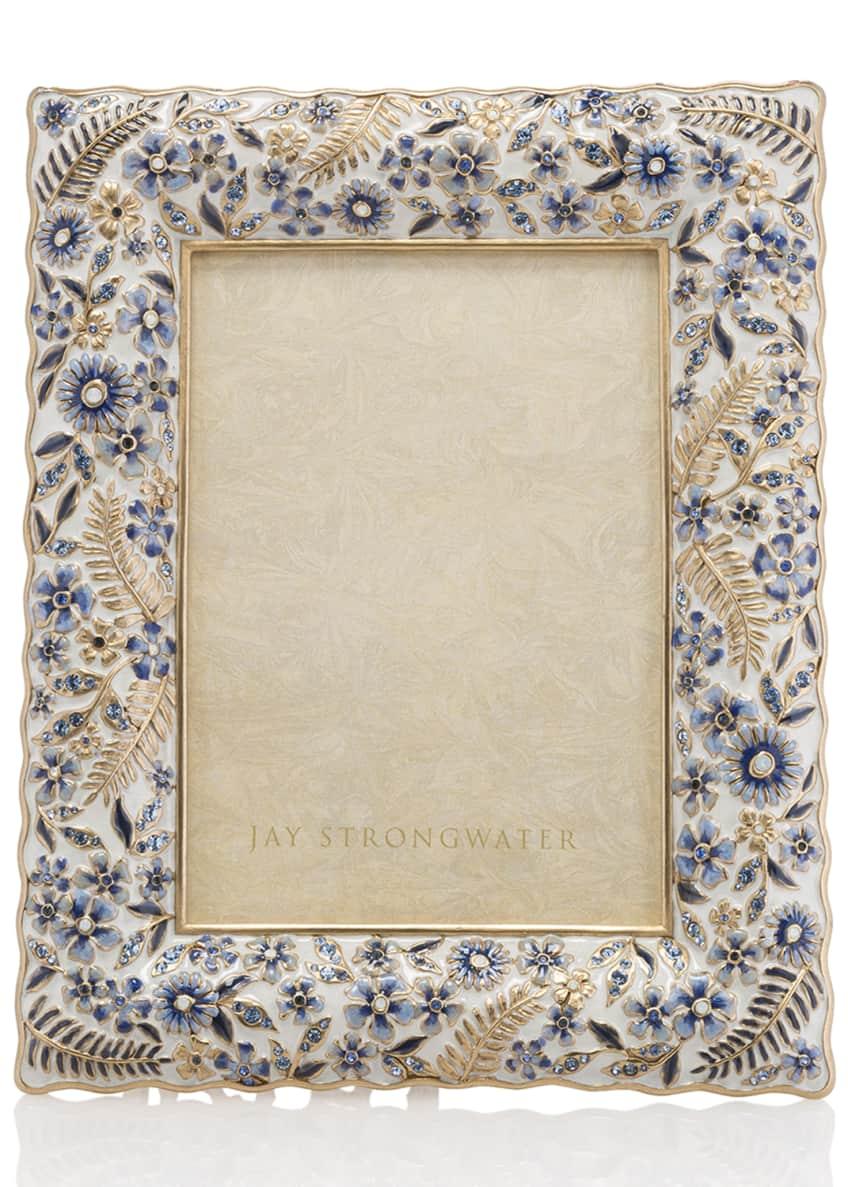 Jay Strongwater Indigo Ruffle 5 x 7 Picture