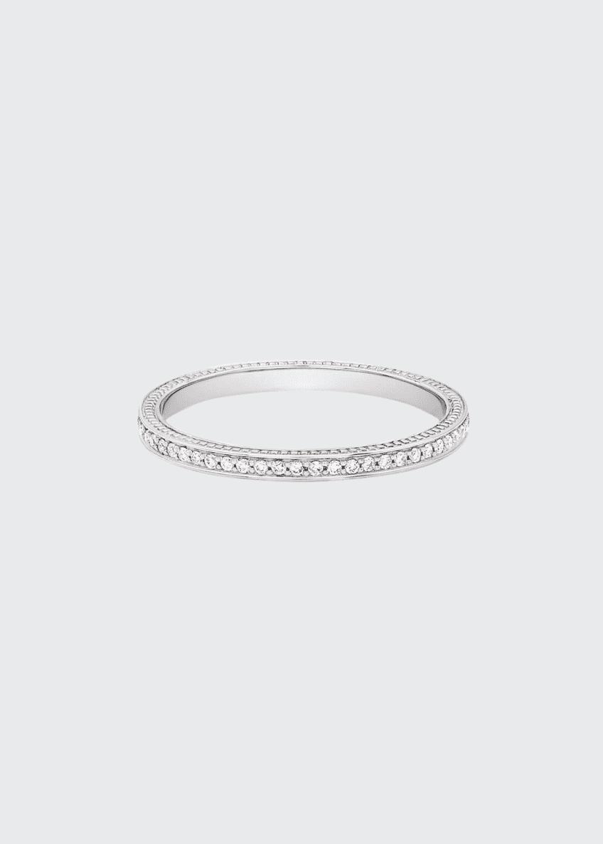 Jamie Wolf 18k Thin Diamond Pave Band Ring