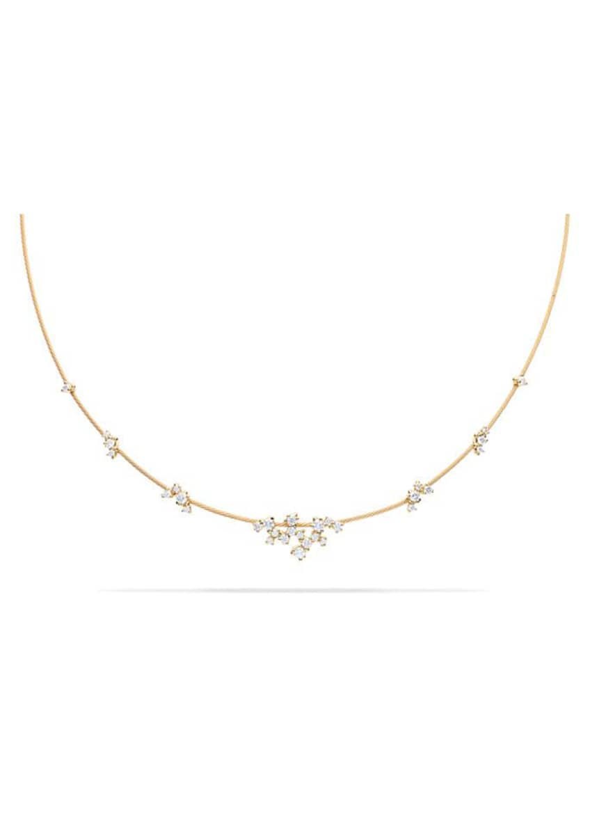 Image 1 of 1: 18k Yellow Gold Diamond Confetti Single Wire Necklace