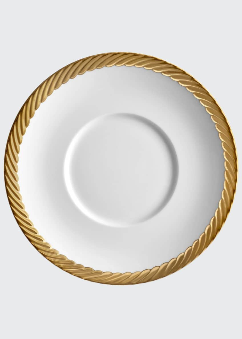 Image 1 of 1: Corde Saucer, White/Gold