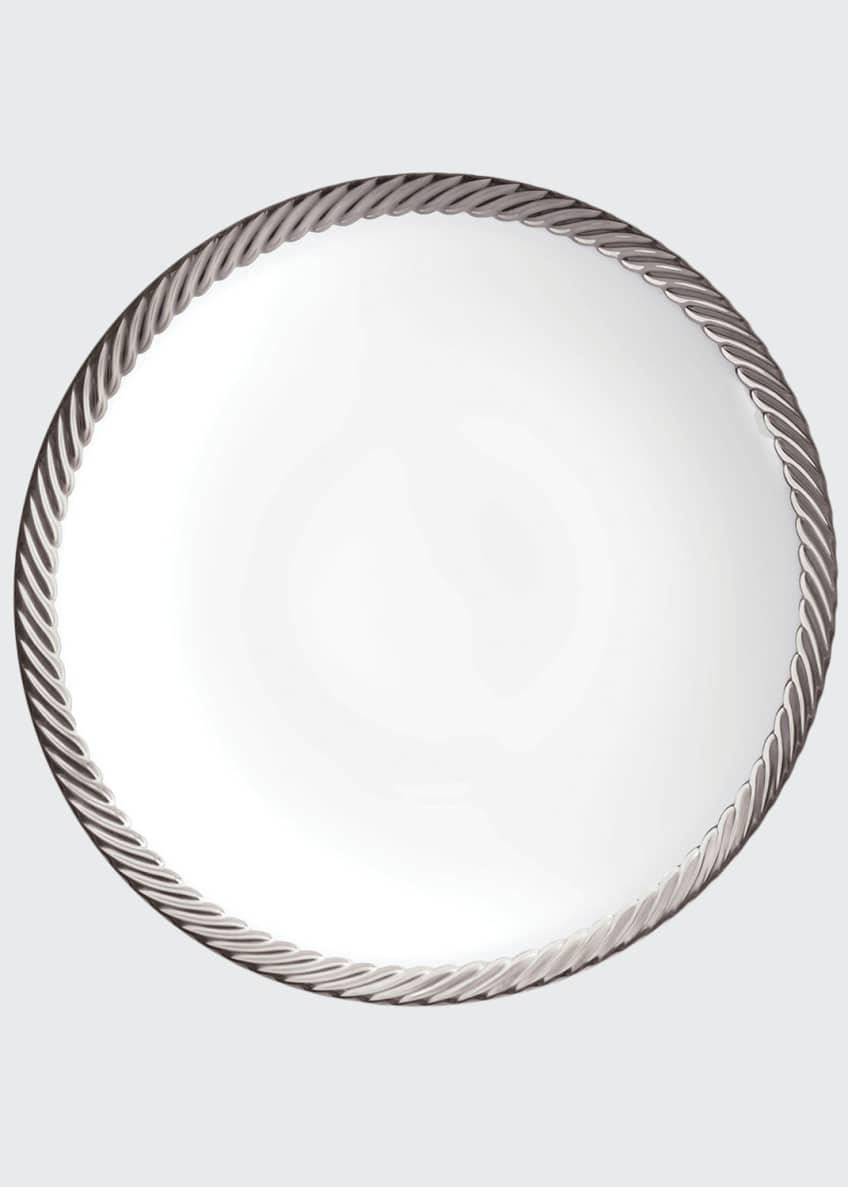 L'Objet Corde Platinum-Rim Soup Bowl
