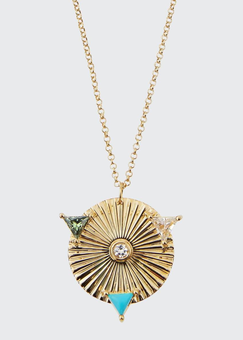 Jennifer Zeuner Iris Roma Mixed Pendant Necklace
