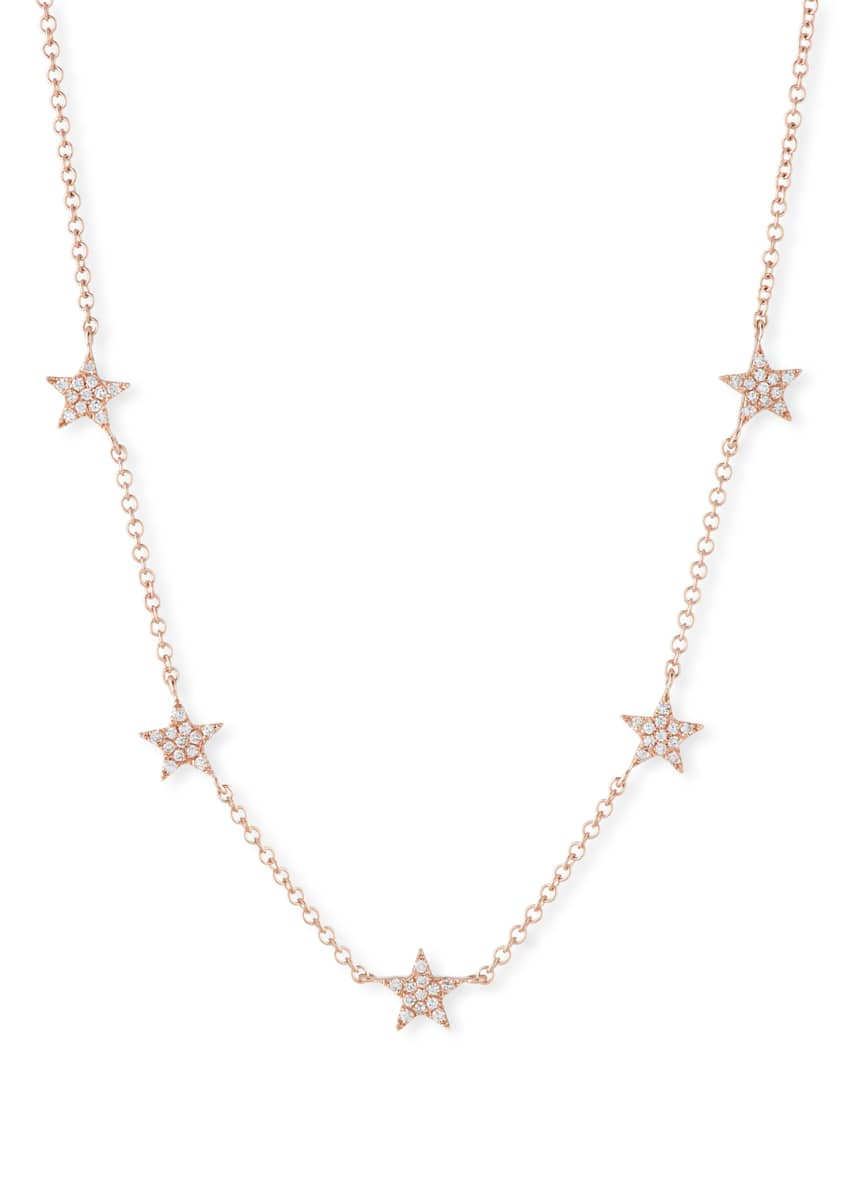 EF Collection 14k Mini Star Diamond Necklace