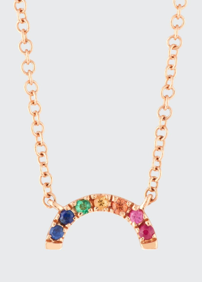 EF Collection 14k Rainbow Pendant Necklace