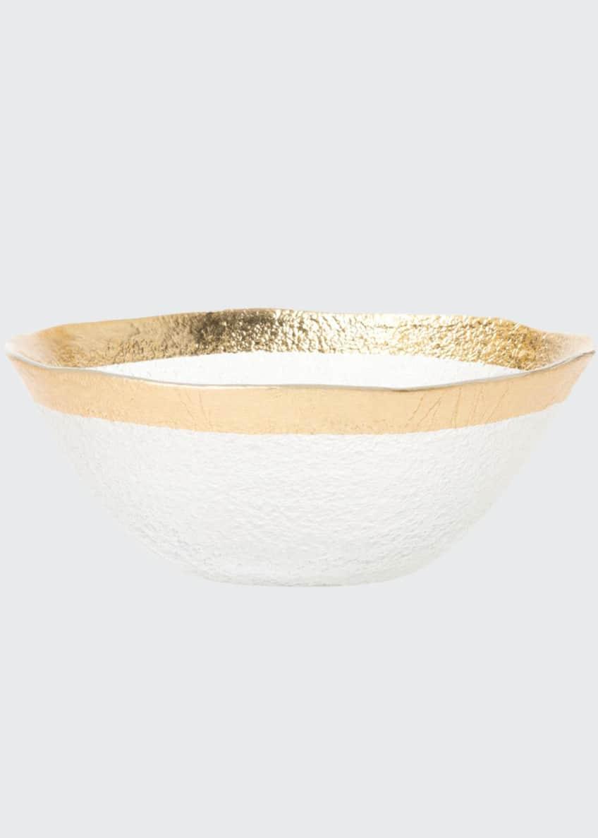 Vietri Rufolo Glass Organic Small Bowl, Gold