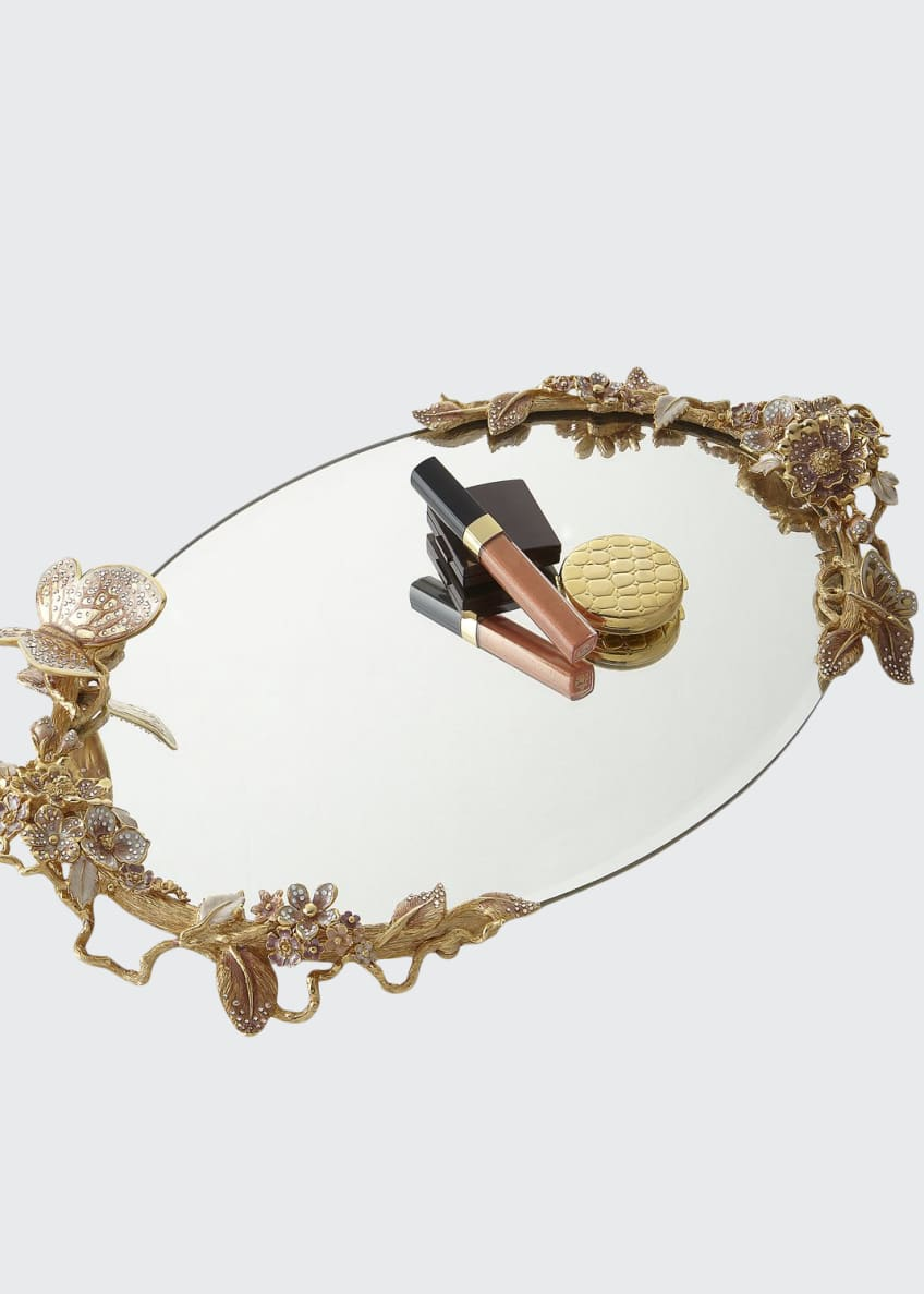 Image 1 of 1: Boudoir Oval Mirror Tray