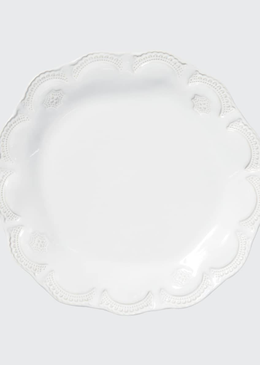 Image 1 of 2: Incanto Stone Lace Dinner Plate, White