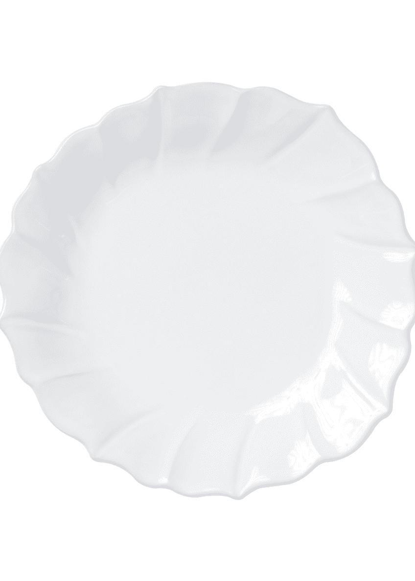 Vietri Incanto Stone Ruffle Salad Plate, White