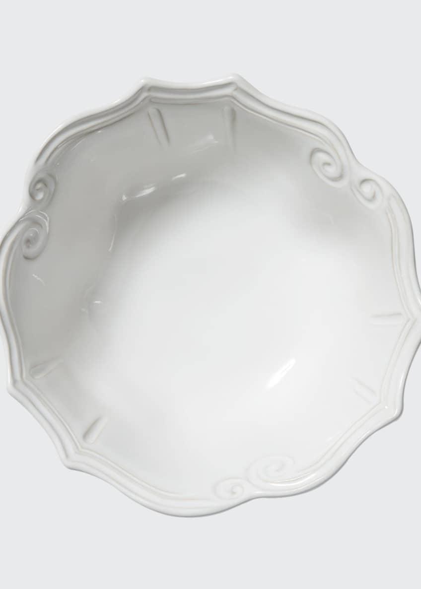 Vietri Incanto Stone Baroque Medium Serving Bowl, White