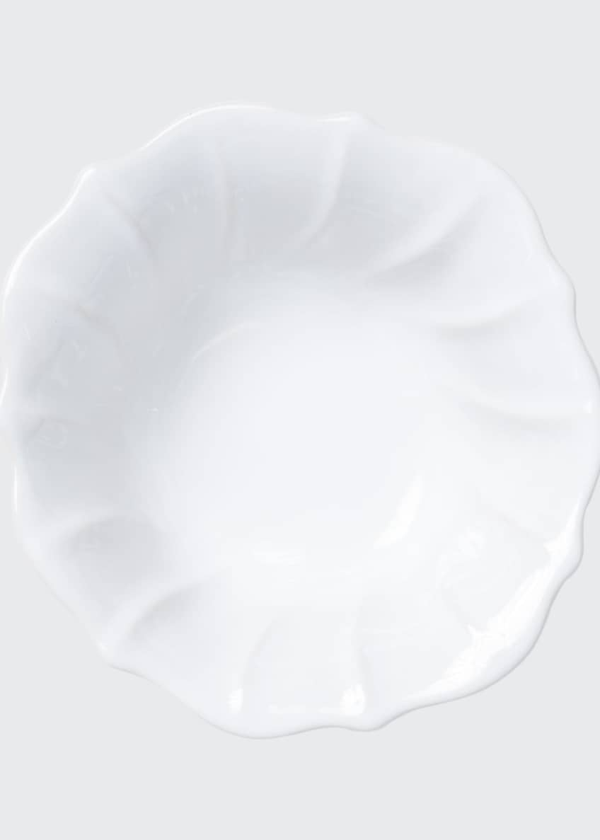 Image 1 of 3: Incanto Stone Ruffle Cereal Bowl, White
