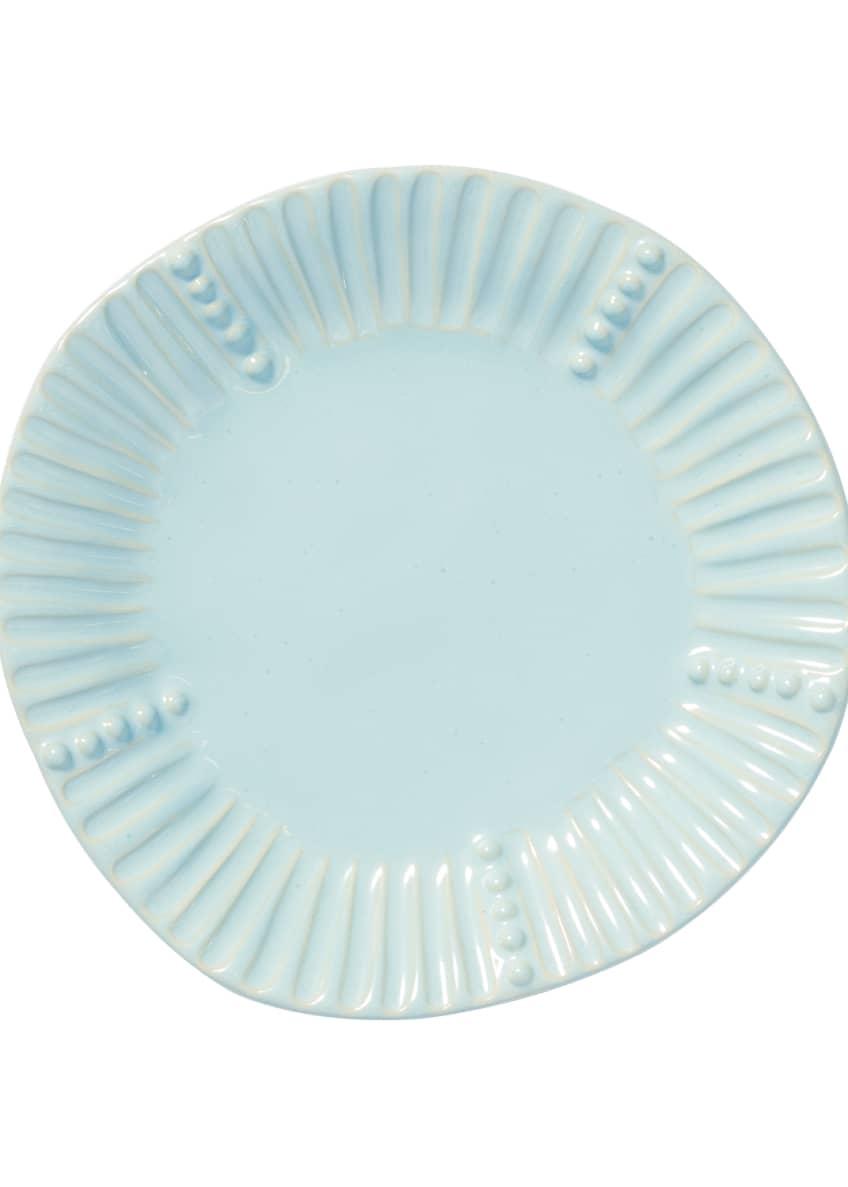 Vietri Incanto Stone Stripe Salad Plate, Aqua